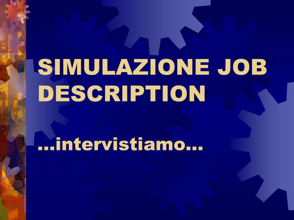 SIMULAZIONE JOB DESCRIPTION …intervistiamo…