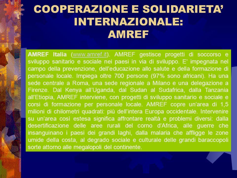COOPERAZIONE E SOLIDARIETA' INTERNAZIONALE: