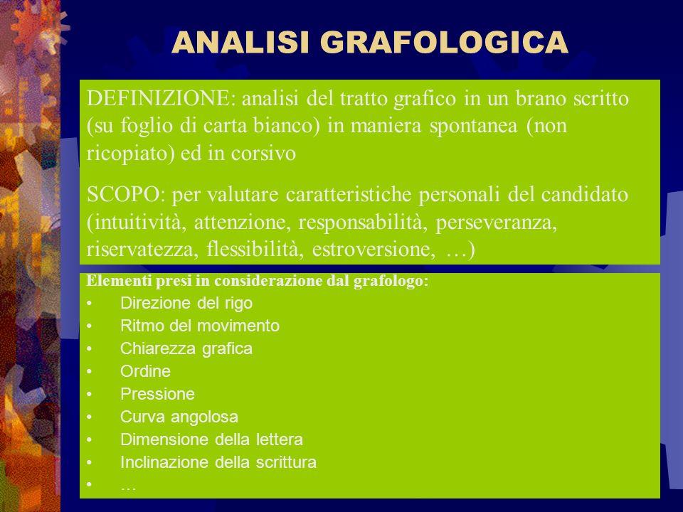 ANALISI GRAFOLOGICA