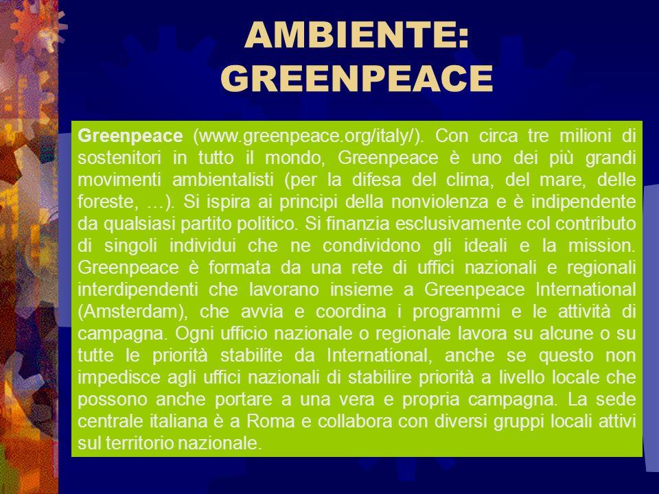 AMBIENTE: GREENPEACE.