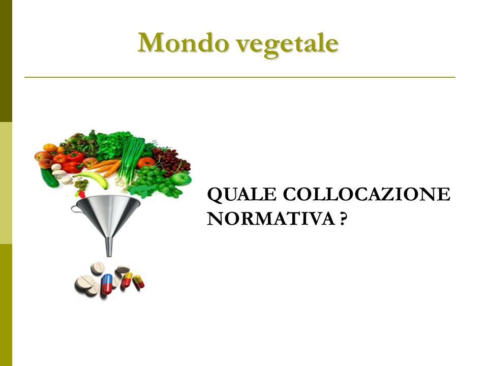 Mondo vegetale QUALE COLLOCAZIONE NORMATIVA