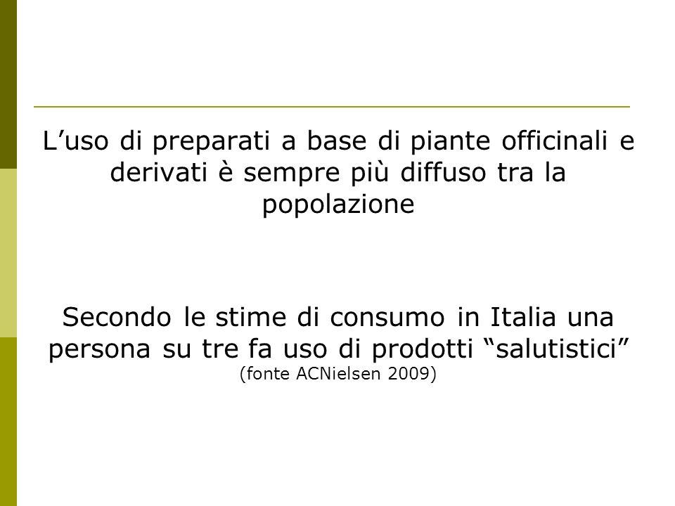 L'uso di preparati a base di piante officinali e derivati è sempre più diffuso tra la popolazione