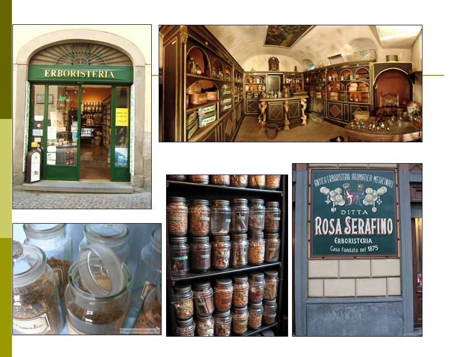 These are some examples of erboristeria shops!