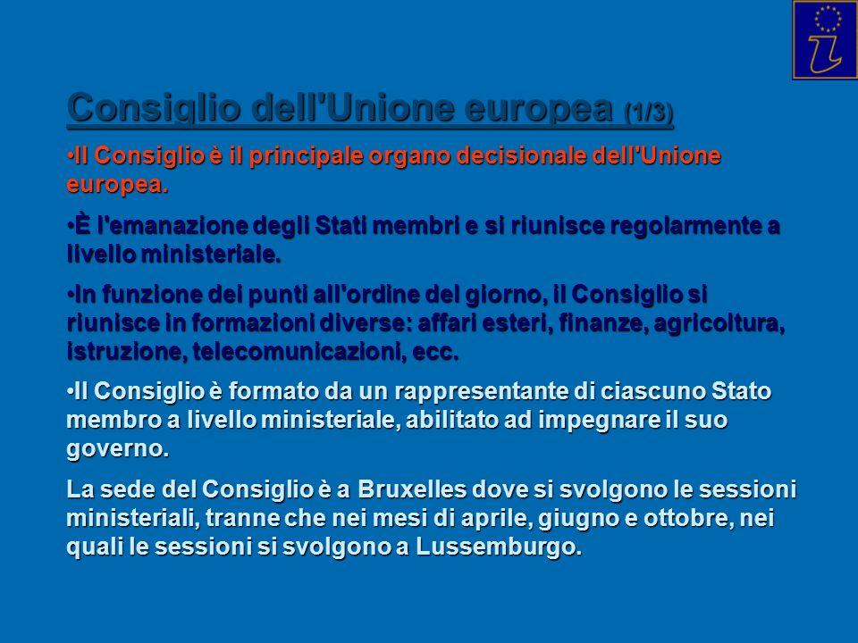 Consiglio dell Unione europea (1/3)