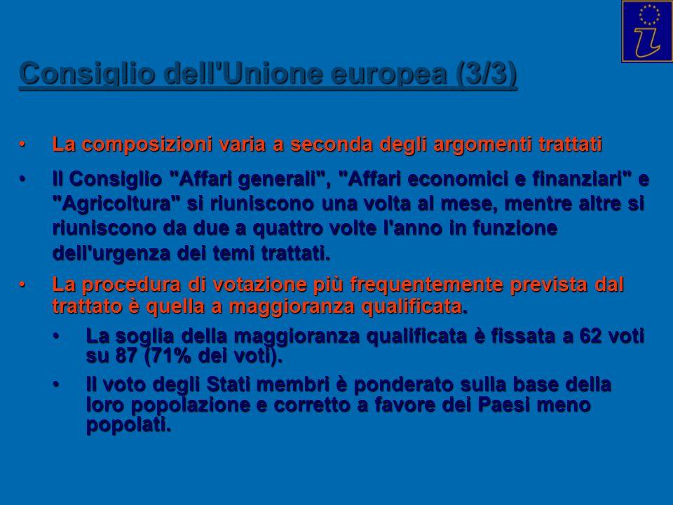 Consiglio dell Unione europea (3/3)
