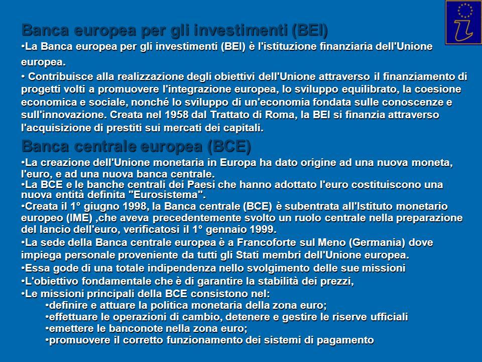 Banca europea per gli investimenti (BEI)