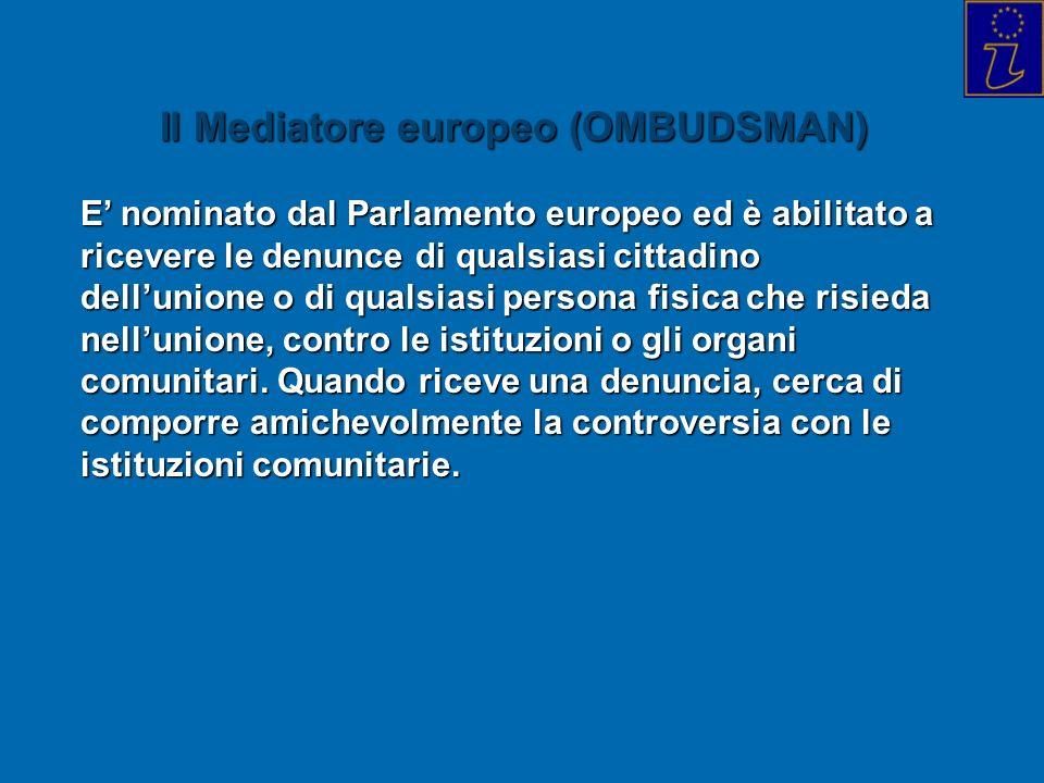 Il Mediatore europeo (OMBUDSMAN)