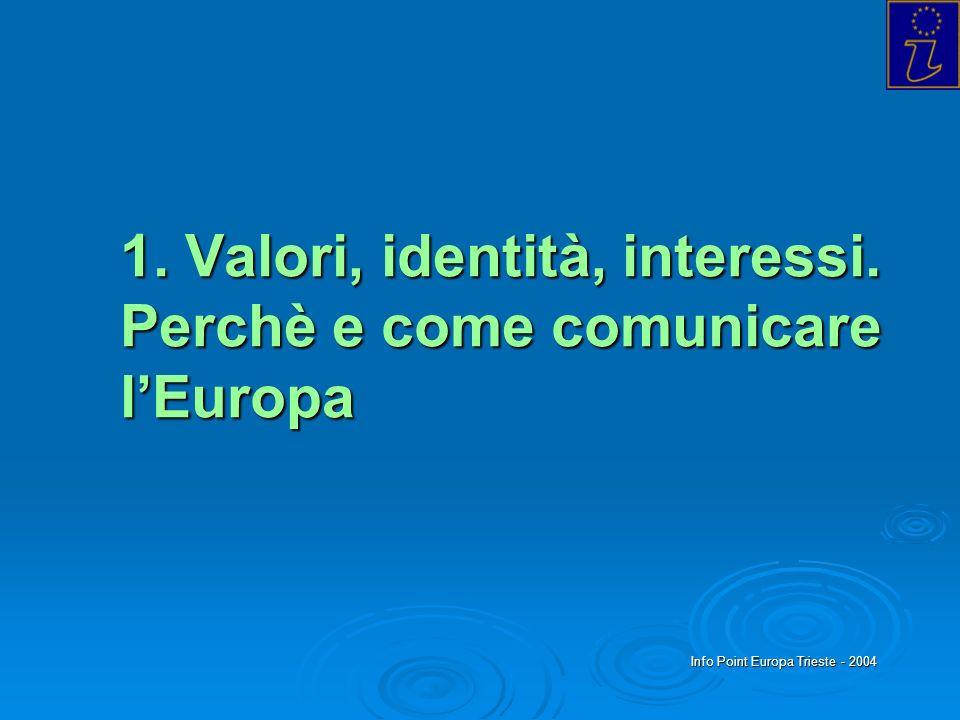 1. Valori, identità, interessi. Perchè e come comunicare l'Europa
