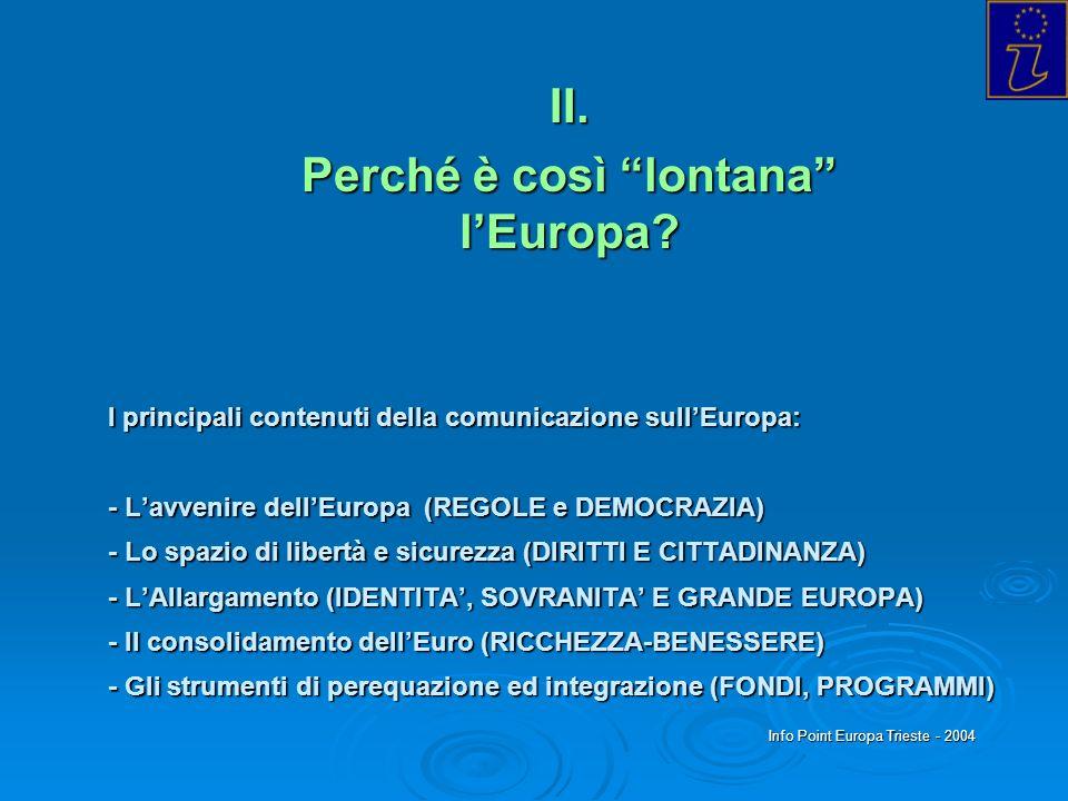 II. Perché è così lontana l'Europa