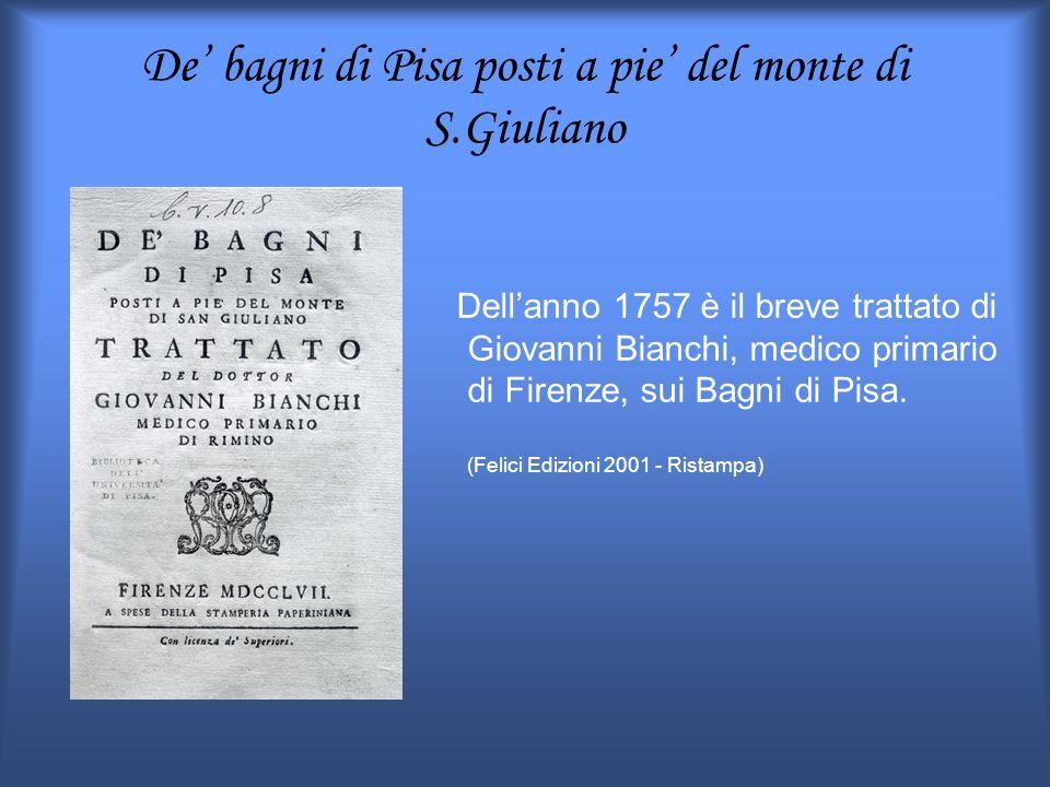 De' bagni di Pisa posti a pie' del monte di S.Giuliano