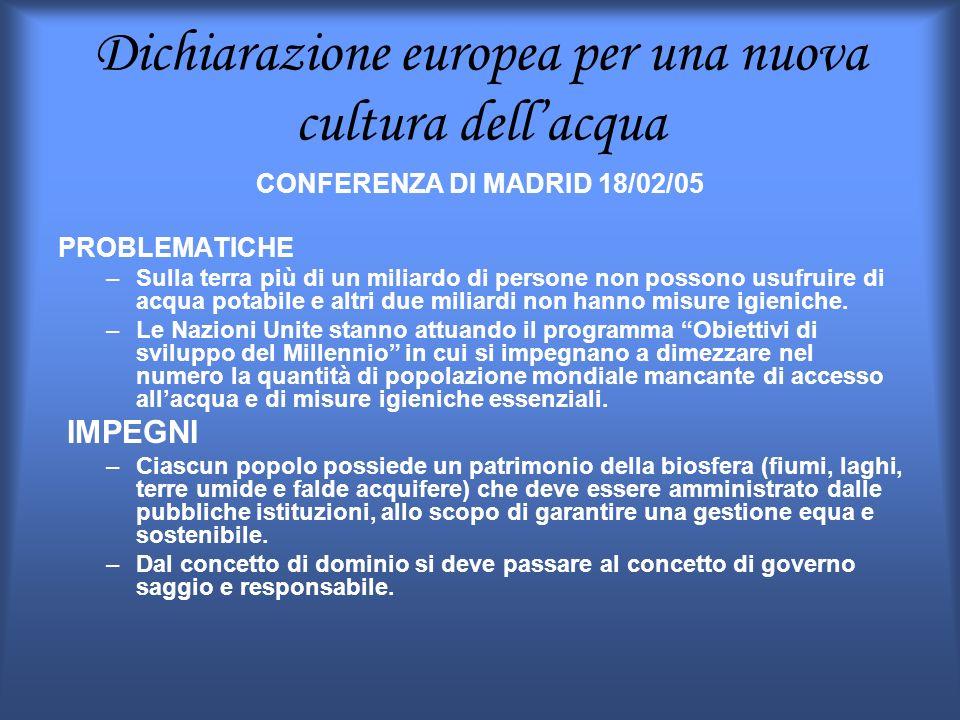 Dichiarazione europea per una nuova cultura dell'acqua