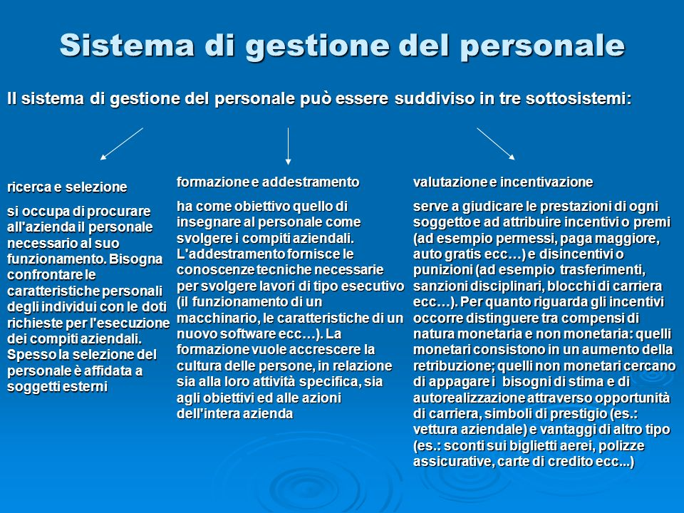 Sistema di gestione del personale