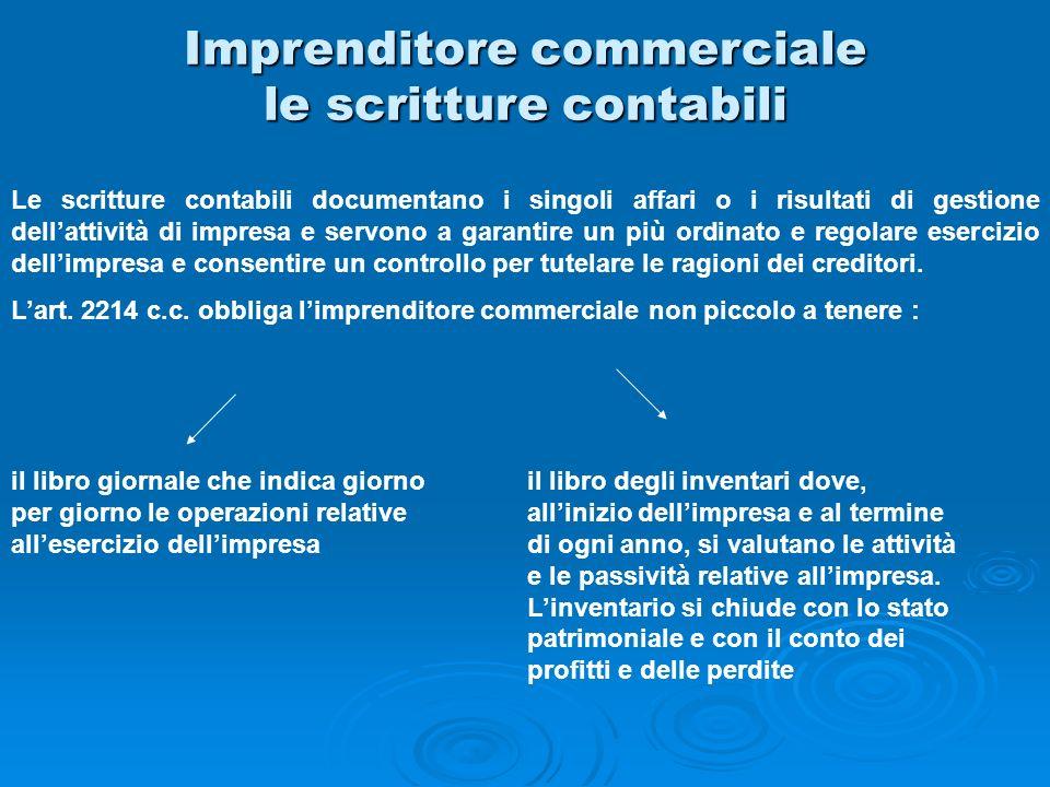 Imprenditore commerciale le scritture contabili