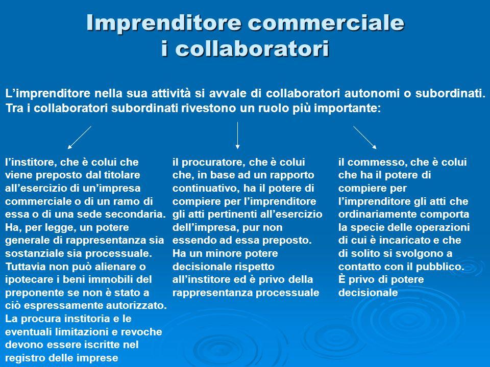Imprenditore commerciale i collaboratori