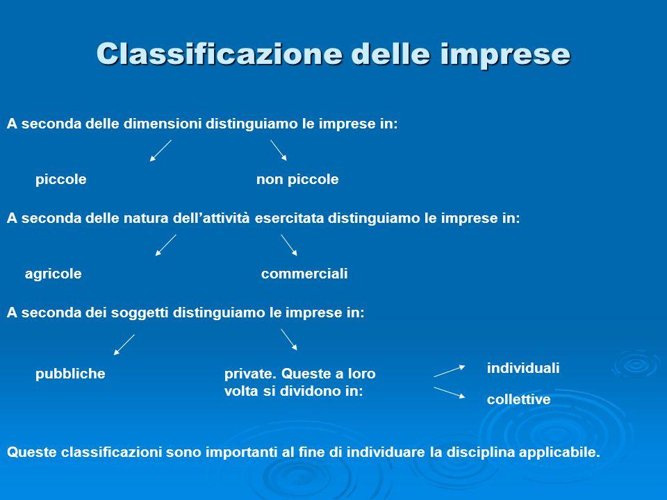 Classificazione delle imprese