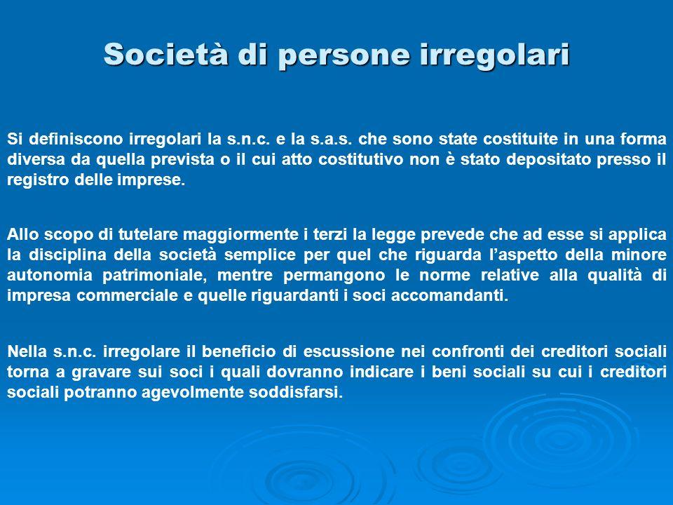 Società di persone irregolari