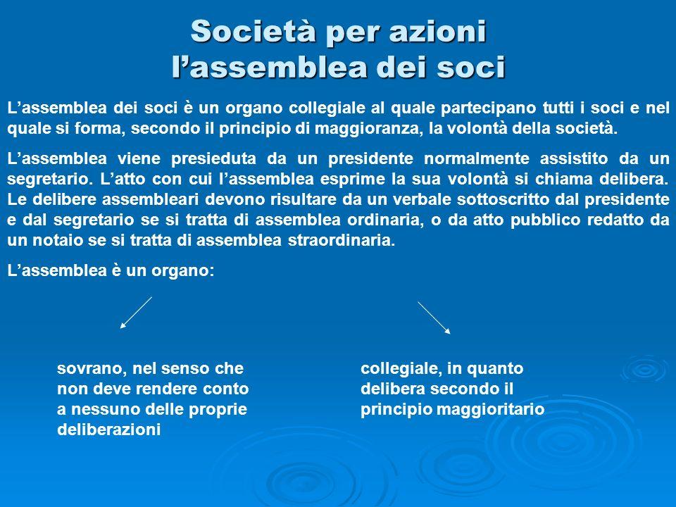 Società per azioni l'assemblea dei soci