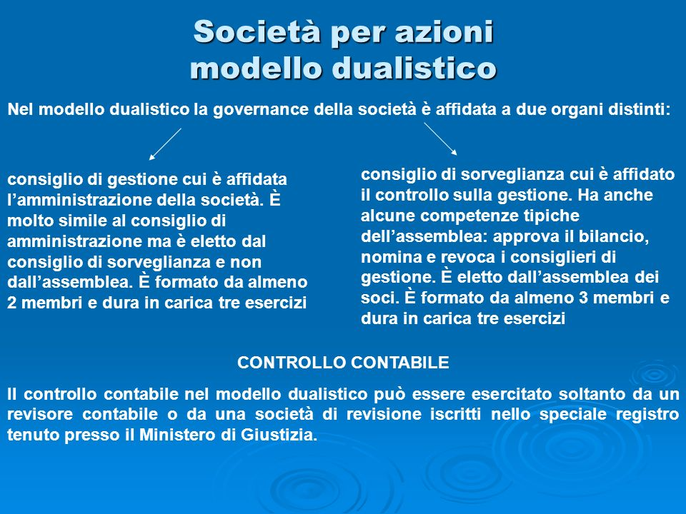 Società per azioni modello dualistico