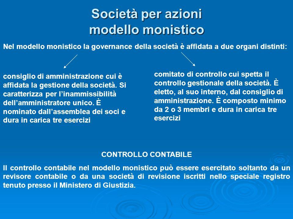 Società per azioni modello monistico