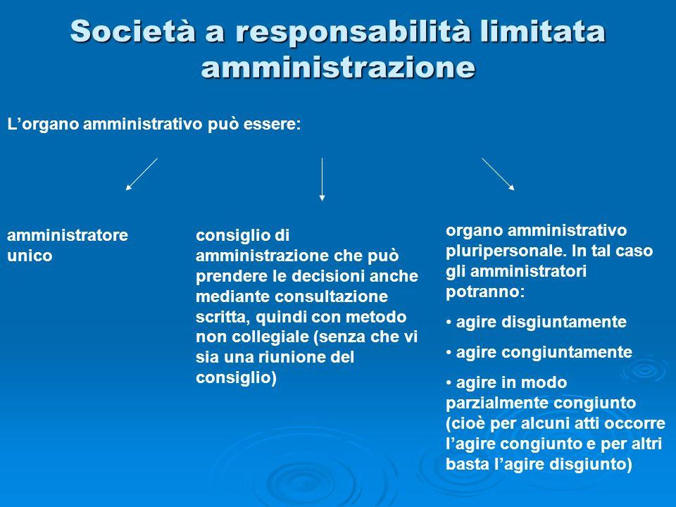 Società a responsabilità limitata amministrazione