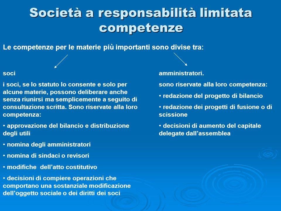 Società a responsabilità limitata competenze