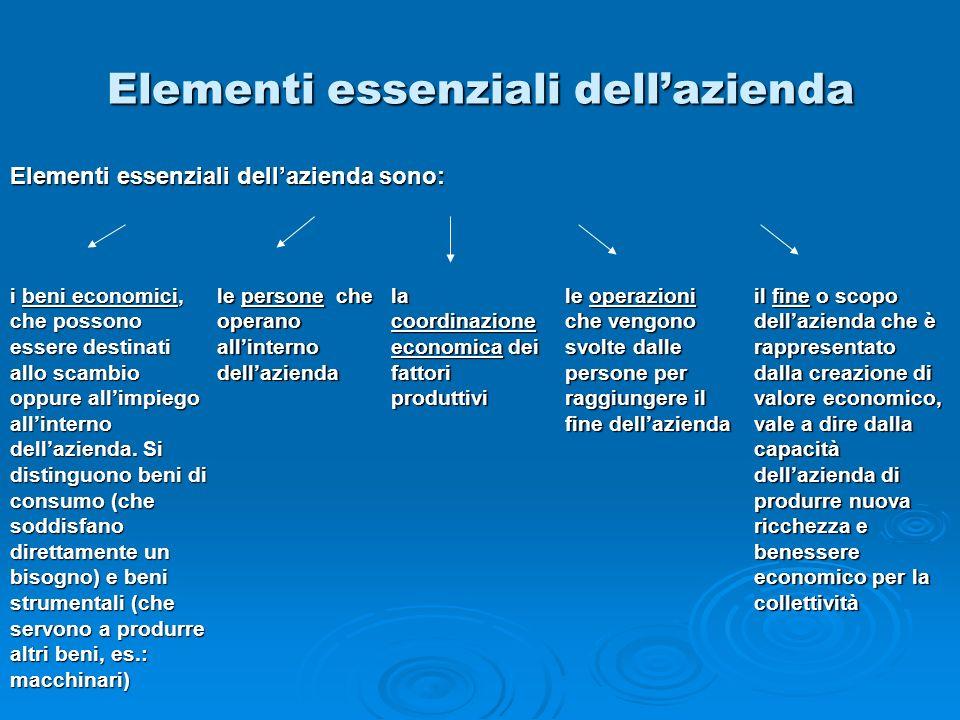 Elementi essenziali dell'azienda