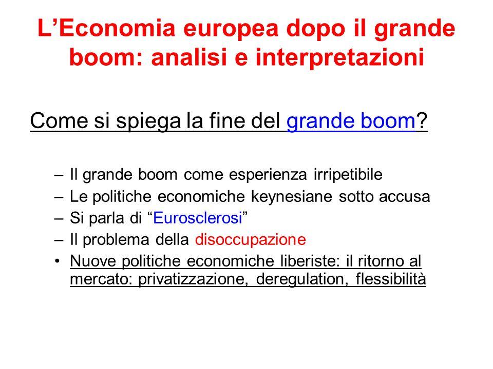 L'Economia europea dopo il grande boom: analisi e interpretazioni
