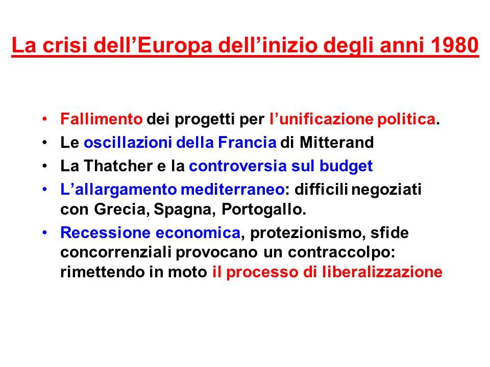 La crisi dell'Europa dell'inizio degli anni 1980