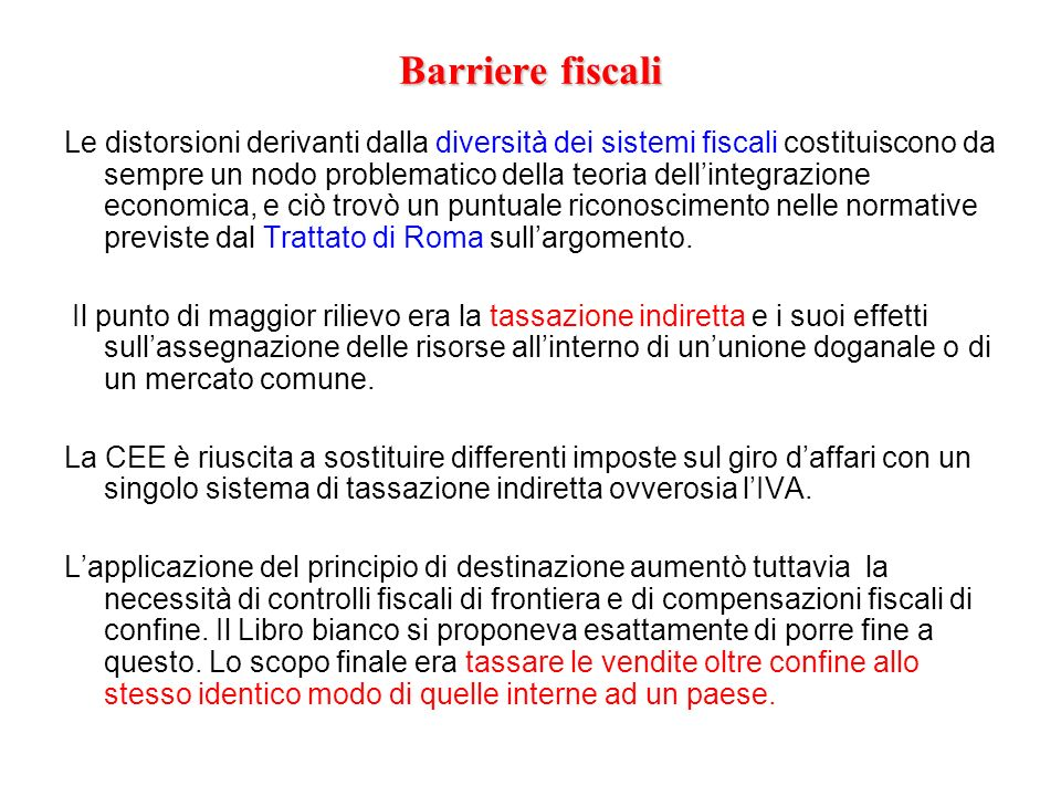Barriere fiscali