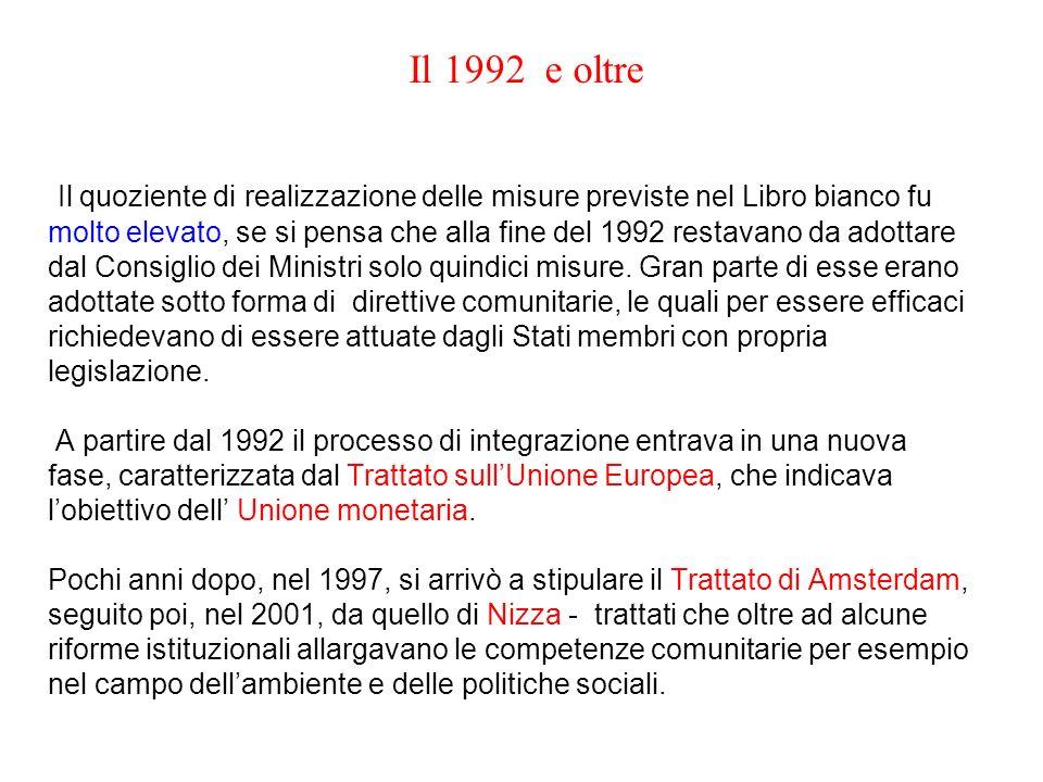 Il 1992 e oltre
