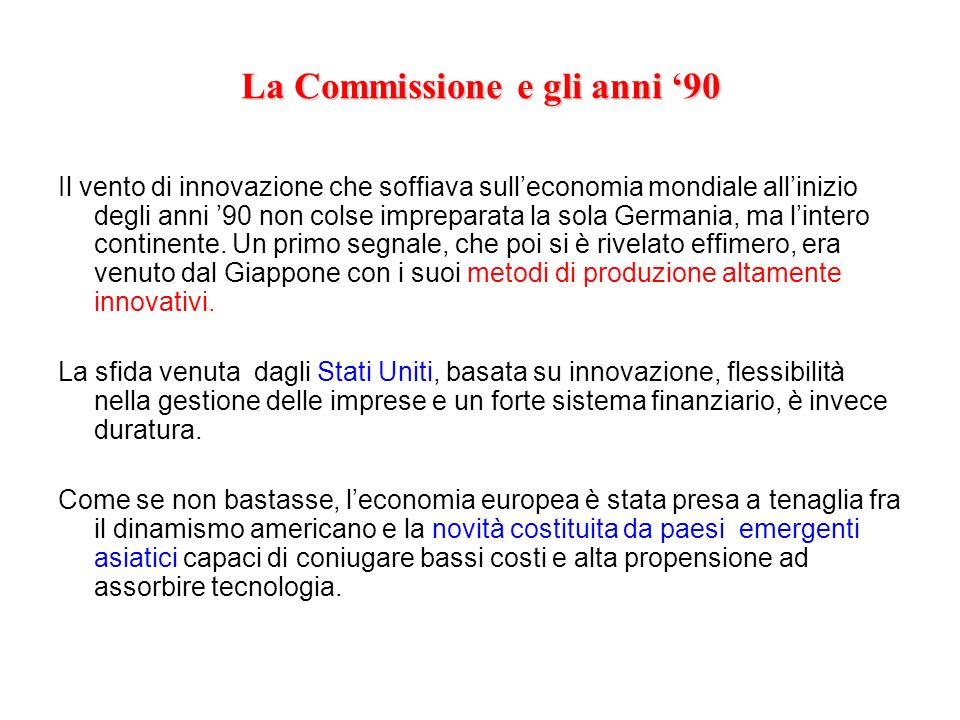La Commissione e gli anni '90
