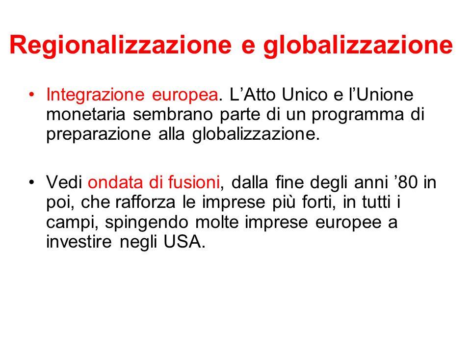 Regionalizzazione e globalizzazione