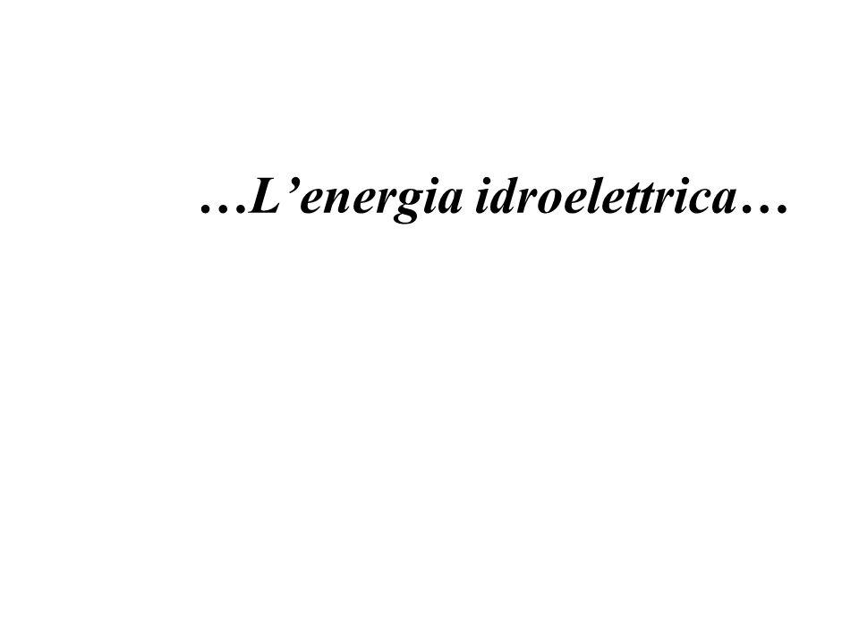 …L'energia idroelettrica…