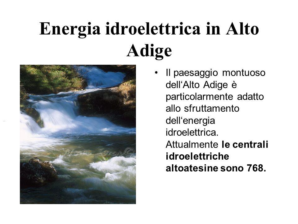 Energia idroelettrica in Alto Adige