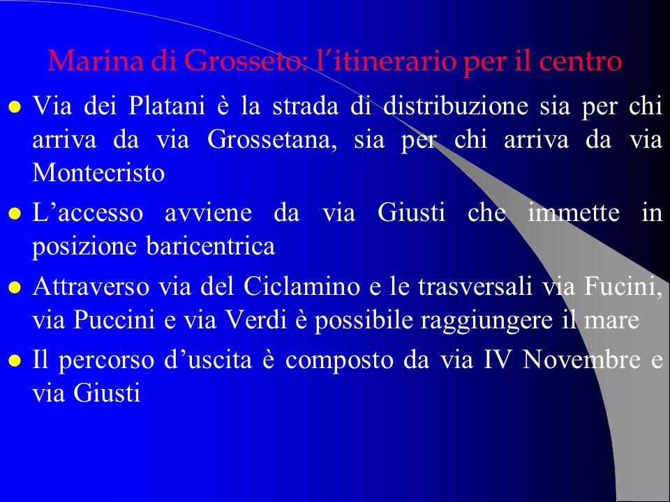Marina di Grosseto: l'itinerario per il centro