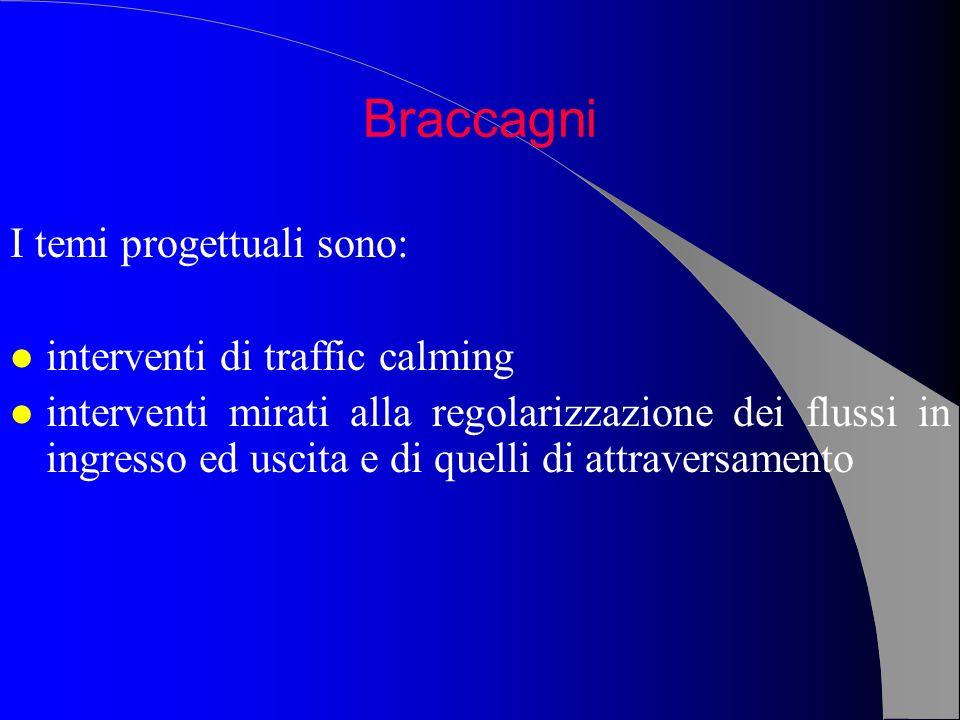 Braccagni I temi progettuali sono: interventi di traffic calming