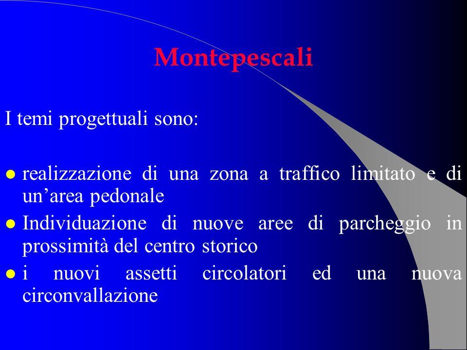 Montepescali I temi progettuali sono: