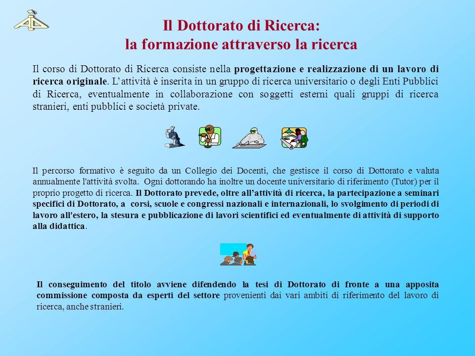 Il Dottorato di Ricerca: la formazione attraverso la ricerca