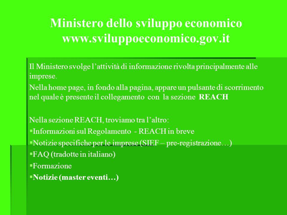 Ministero dello sviluppo economico www.sviluppoeconomico.gov.it