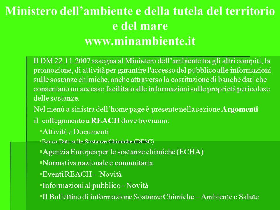 Ministero dell'ambiente e della tutela del territorio e del mare www