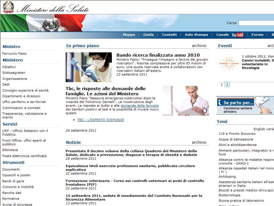Ministero della salute http://www.salute.gov.it