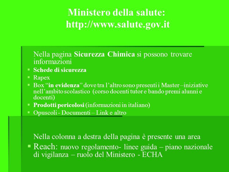 Ministero della salute: http://www.salute.gov.it