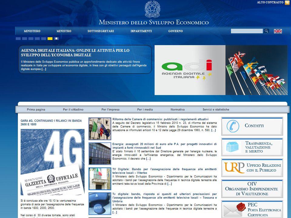 Ministero dello sviluppo economico http://www. sviluppoeconomico. gov