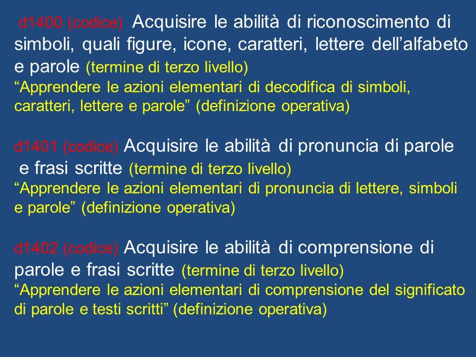 e frasi scritte (termine di terzo livello)
