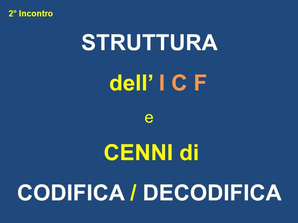 STRUTTURA dell' I C F CODIFICA / DECODIFICA