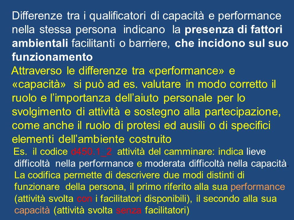 Differenze tra i qualificatori di capacità e performance