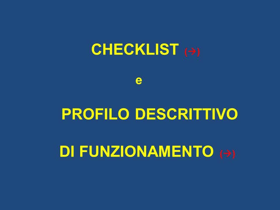 PROFILO DESCRITTIVO DI FUNZIONAMENTO ()
