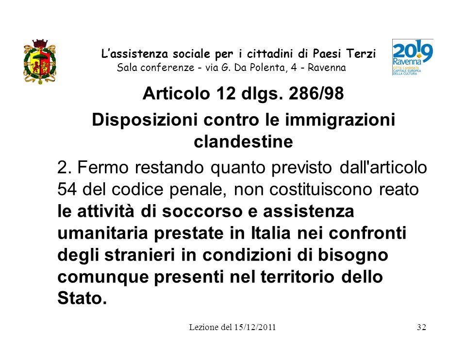 Disposizioni contro le immigrazioni clandestine