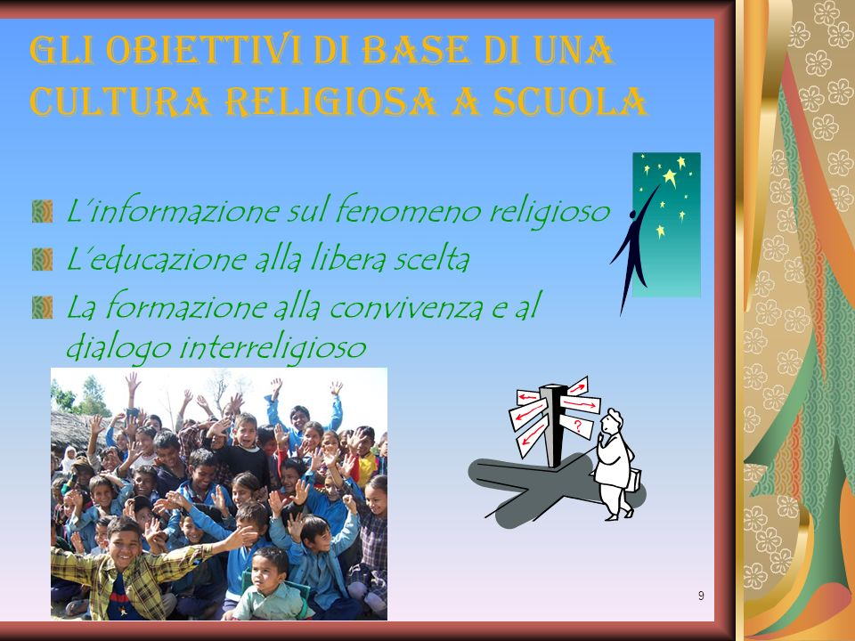 Gli obiettivi di base di una cultura religiosa a scuola