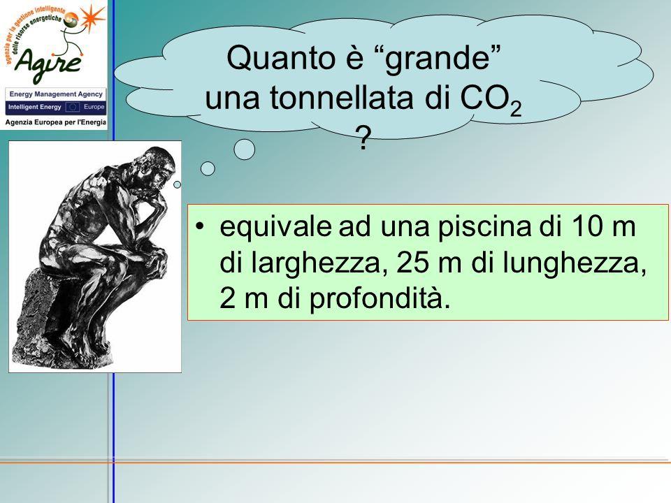 Quanto è grande una tonnellata di CO2